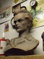 Ritka Eredeti Nagy 50cm Petőfi mellszobor 1848 szobor Antik darab