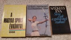 A Magyar Sport Évkönyve 1986, Sírni csak a győztesnek szabd,Élet és Tudomány kalendáriuma  eladó