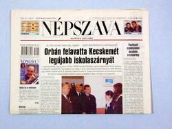 2002 március 21  /  NÉPSZAVA  /  18. SZÜLETÉSNAPRA! Szs.:  13396