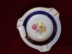 PM minőségi német porcelán hamutál, kobalt kék szegéllyel, vitrin minőségben.