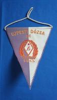 Ujpesti Dózsa SC háromszögletű sport zászló, kb. 50 éves