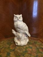 Gyönyörű antik porcelán bagoly