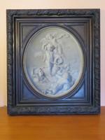 Friedrich Schilcher, térhatású eredeti festmény 1876