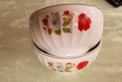 2 db porcelán kompótos tál tányér.12,5x 6,5 cm