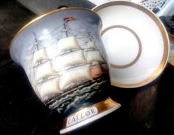 Captain's Cup Hamburg porcelán óriás csésze