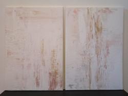 2 db absztrakt eredeti festmény 2x55x38 cm, akril vászonkép