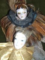 Velencei karneváli porcelán babák