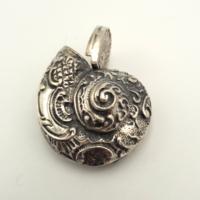 Ritka, ezüst kagyló cukorszóró 925- ös