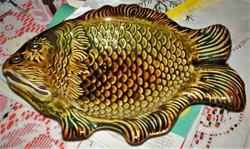 Antik, Kispest GRÁNIT asztalközép, pikkelyes hal  kínáló