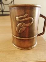Réz kávémérő pohár