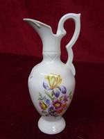 Minőségi német porcelán mini kancsó, 14,5 cm magas, vitrin minőség.