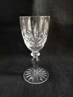 Metszett kristály röviditalos talpas pohár, hibátlan