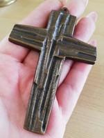 Bronz kereszt 9,5x 6x5 cm