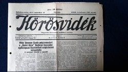 1937. KŐRÖSVIDÉK Független Politikai napilap