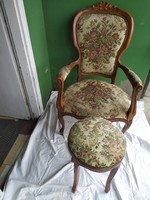 1,-Ft Gyönyörű goblein szék puffal!