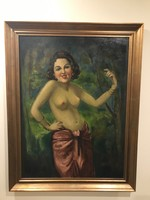 Nagyméretű régi festmény!