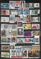USA pecs bélyegek Mi 822-1281 44 db 13,20 EUR 1962-76 (f 409)