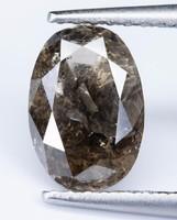 1,6 ct természetes fancy világos barna gyémánt labor tanúsítvánnyal