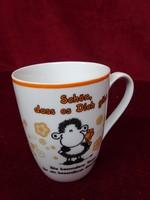 Sheepworld porcelán pohár, 10 cm magas, átmérője 8 cm. Vitrin minőség.