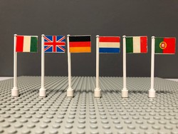 LEGO Legoland Vintage Zászlók a 70-es 80-as évekből 6db