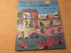 Richard Scarry  Tesz - vesz szótár magyar-angol-német, 1986 A szerző rajzaival