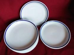 Zsolnay kék szegélyes salátás tányérok