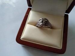 Markazit köves Chanel fazonú ezüst gyűrű