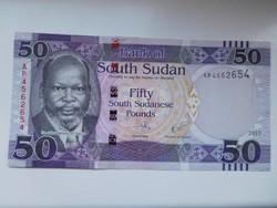 Dél-Szudán 50 pounds 2017 UNC