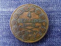 Svédország I. Oszkár (1844-1859) 4 skilling banco 1849 / id 16571/