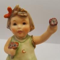 Hummel kislány virágfejjel, 10 cm
