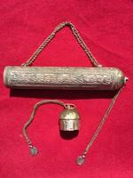 Iszlám vallási vezető Amulett tartója!!Ezüst Szelence !!(1900)- as évek eleje). Iszlám vallás!!!!