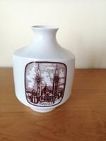 Nagyon ritka retro Alföldi porcelán váza Szegedi dóm, MOTESZ 1975