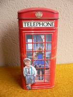 Angol telefonfülke alakú fém persely