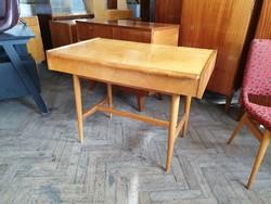 Retro régi mid century tárolós íróasztal asztal