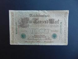 1000 márka 1910 Németország zöld pecsét