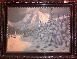 Gyönyörű olaj festmény Jakab jelzéssel