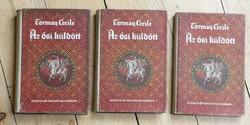 TORMAY CECILE : AZ ŐSI KÜLDÖTT I-III. - papírborítós nagyon szép könyvek - 1943