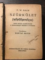 F.W. Bain: SZÜRKÜLET / 1920