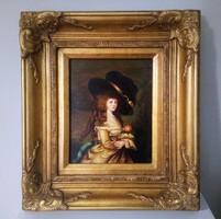 Antik olaj/farost portré B.(?) Taylor jelzéssel