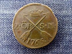 Svédország Adolf Frigyes 2 Öre 1765 / id 16572/