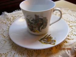 Kávés csésze kistányérral
