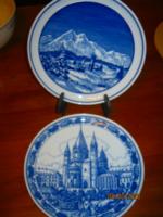 2 db Kobalt kék dísz tányér