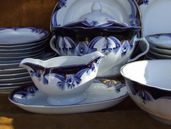 Tableware set in cobalt blue-gold No. 12, hand painted