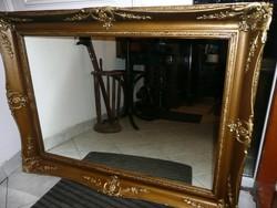 Álomszép, nagyon nagy méretű antik blondel keretes fali tükör gyönyörű állapotban 124*91 cm