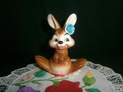 Nagyon aranyos Goebel porcelán nyuszi, nyúl virággal