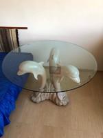 """""""Carving"""" delfines dohányzóasztal"""