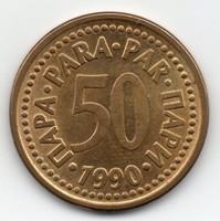 Jugoszlávia SFR 50 jugoszláv para, 1990