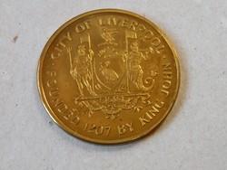 KK611 Liverpool  Merseyside Tengerészeti Múzeum bronz emlékérme