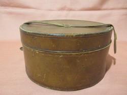 Bőrrel bevont régi varrós doboz