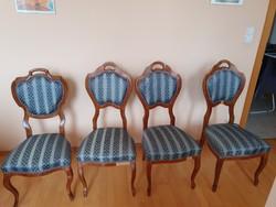 Biedermeier székek, 4 darab